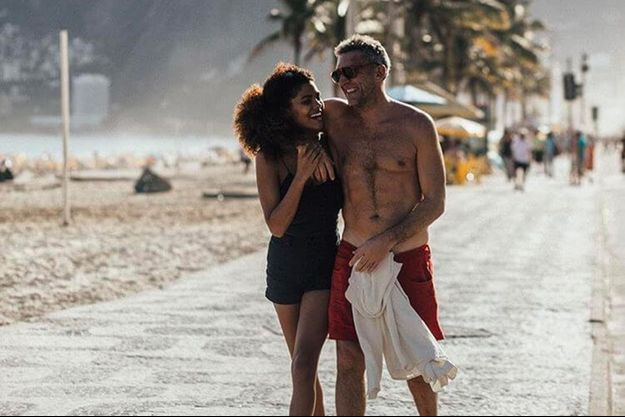 Tina Kunakey et Vincent Cassel au Brésil