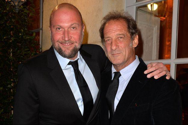 François Damiens et Vincent Lindon en septembre 2019 lors d'un gala caritatif