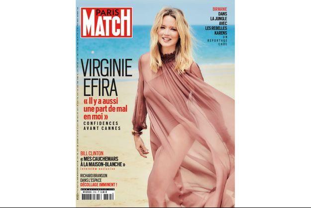 Virginie Efira à la une de Paris Match.