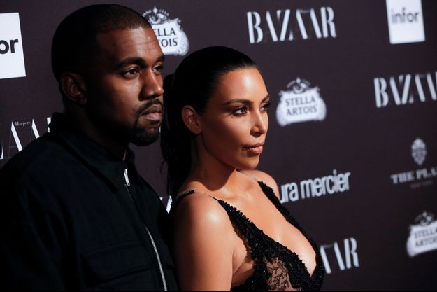 Kanye West et Kim Kardashian (photo d'illustration)