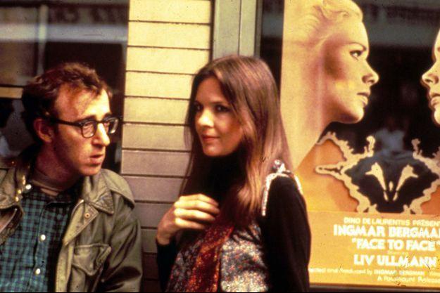 Woody Allen avec Diane Keaton en 1977.