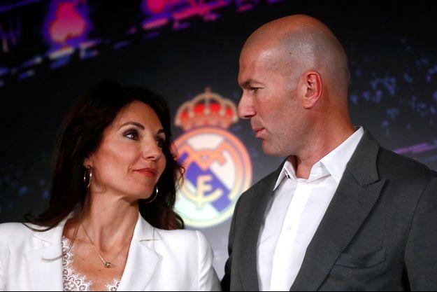 Zinédine Zidane et sa femme Véronique à Madrid, le 11 mars 2019