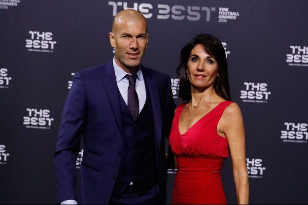 Zinedine Zidane et sa femme Véronique