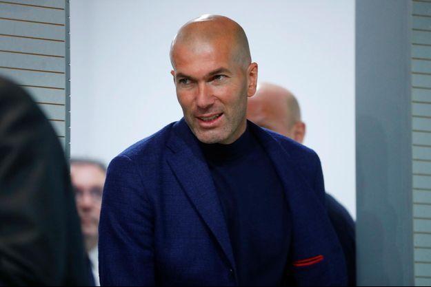 Zinédine Zidane à Madrid, le 31 mai 2018