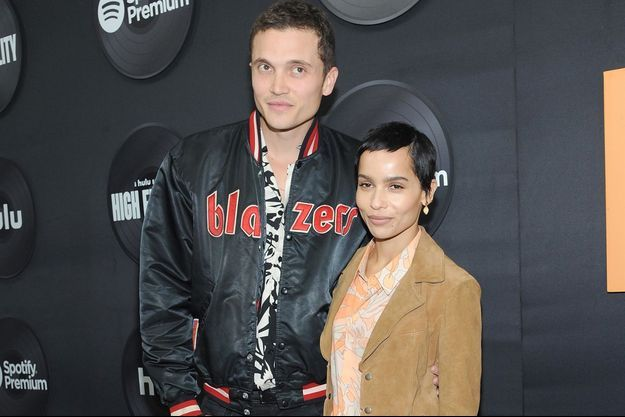 "Karl Glusman et Zoë Kravitz à la première de ""High Fidelity"" en février 2020 à New York"