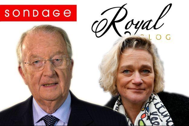 L'ancien roi des Belges Albert II et Delphine Boël