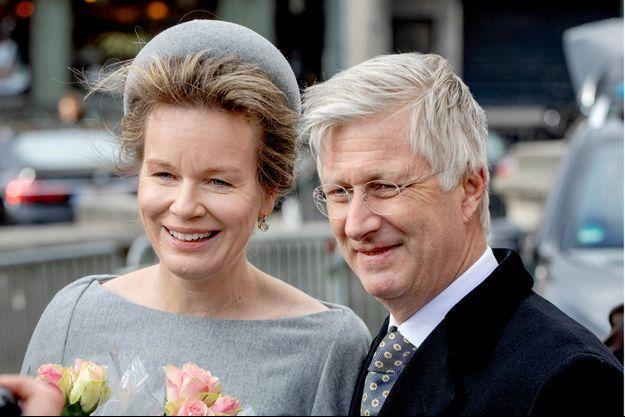 La reine Mathilde et le roi des Belges Philippe à Bruxelles, le 17 février 2020