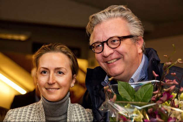 """Le prince Laurent et son épouse Claire, à la première du film """"Song of the Sea"""", à Anvers le 2 février dernier."""