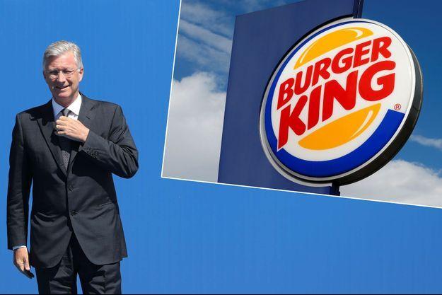 Le roi Philippe de Belgique le 25 mai 2017 - Une enseigne de Burger King en Suisse en octobre 2016