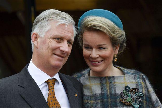 La reine Mathilde et le roi des Belges Philippe à Luxembourg, le 17 octobre 2019