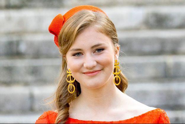 La princesse héritière Elisabeth de Belgique, le 21 juillet 2021 à Buxelles