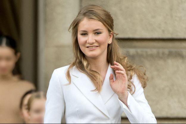La princesse héritière Elisabeth de Belgique à Bruxelles, le 25 octobre 2019, jour de ses 18 ans