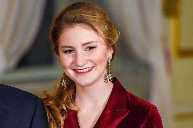 La princesse Elisabeth de Belgique à Bruxelles le 18 décembre 2019