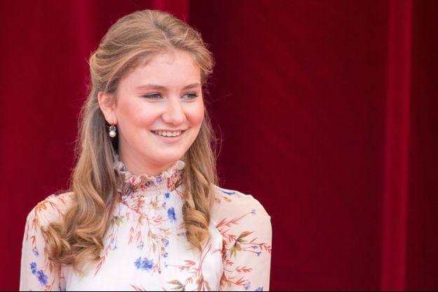 La princesse héritière Elisabeth de Belgique à Bruxelles, le 21 juillet 2019