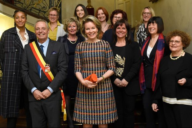 La reine des Belges Mathilde à Liège, le 13 mars 2019