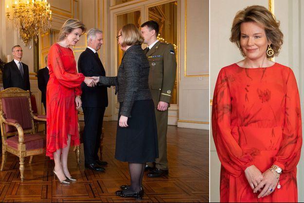 La reine Mathilde de Belgique et le roi des Belges Philippe à Bruxelles, le 17 janvier 2019