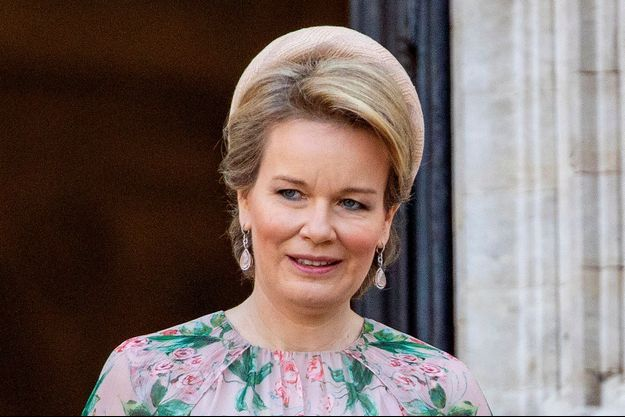 La reine des Belges Mathilde à Bruxelles, le 21 juillet 2021