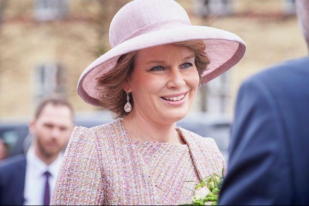 La reine Mathilde de Belgique le 29 mars 2017
