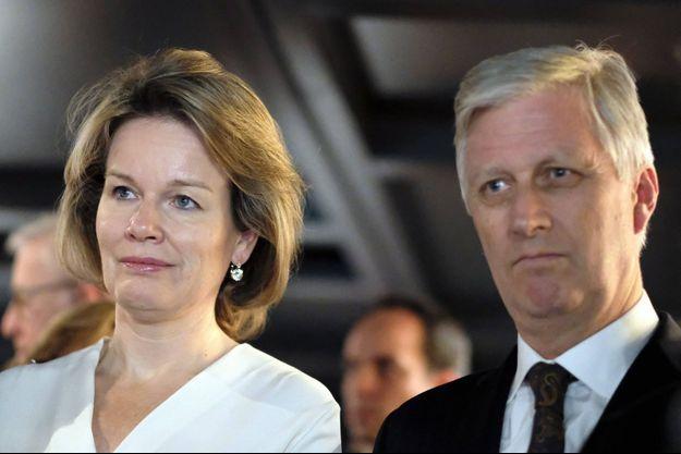 La reine Mathilde et le roi des Belges Philippe au Forum économique mondial de Davos 2020