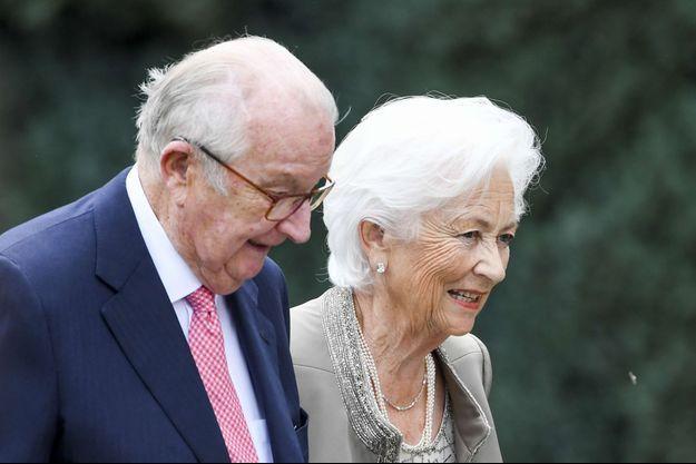 L'ex-reine Paola de Belgique et l'ex-roi Albert II le 29 juin 2017
