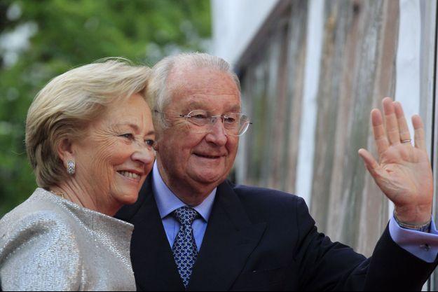 Paola et Albert II le 20 juillet 2013.
