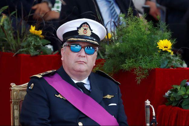 Le prince Laurent de Belgique à Bruxelles, le 21 juillet 2017