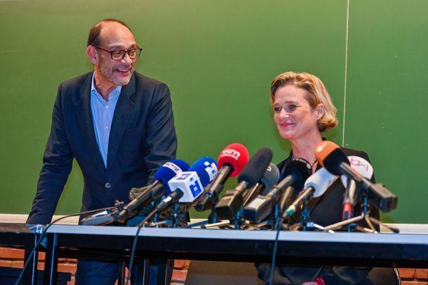 « Delphine, non pas en tant que justiciable mais en tant qu'artiste a déjà des liens avec la faculté », souligne Marc Uyttendaele en intro à la conférence de presse donnée par Delphine et ses conseils le 5 octobre dernier, dans un auditoire de l'Université Libre de Belgique.