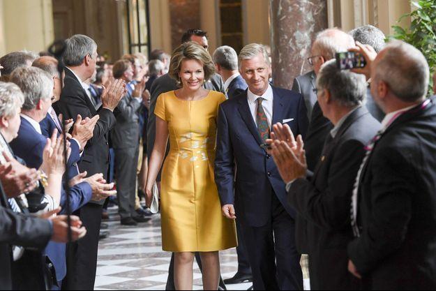 La reine Mathilde et le roi des Belges Philippe à Bruxelles, le 27 juin 2017