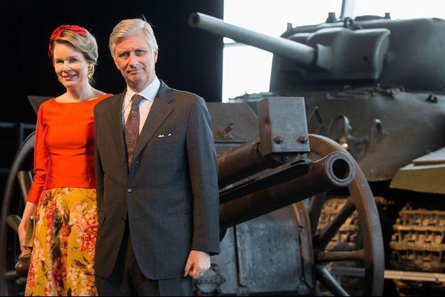 La reine Mathilde et le roi des Belges Philippe au Memorial Hall à Ottawa, le 13 mars 2018