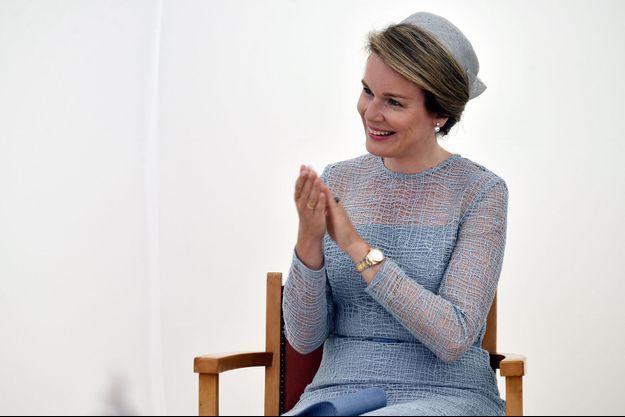 La reine Mathilde de Belgique à Waterloo-Argenteuil, le 6 juin 2017