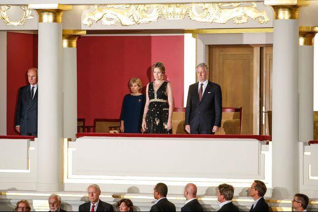 La reine Mathilde et le roi Philippe de Belgique au Bozar à Bruxelles pour le Concours Reine Elisabeth, le 23 mai 2016