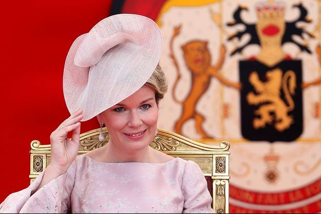 La reine des Belges Mathilde à Bruxelles le 21 juillet 2017