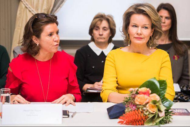 La reine Mathilde de Belgique à Bruxelles le 18 novembre 2016