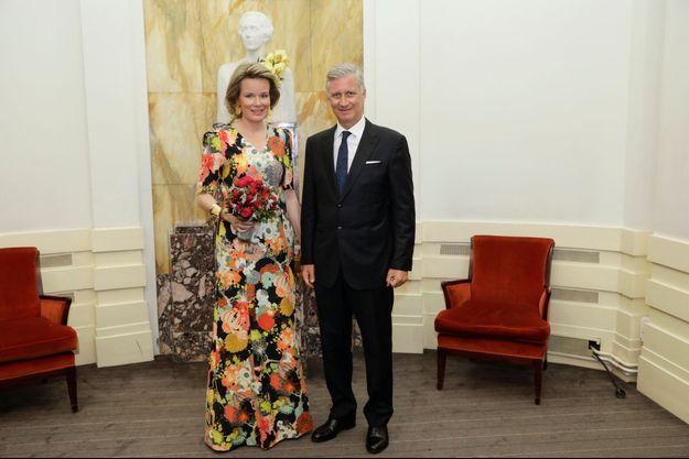La reine Mathilde et le roi Philippe de Belgique à Bruxelles, le 29 mai 2017