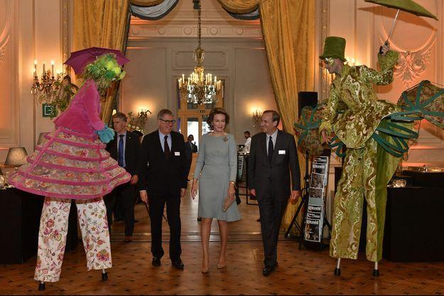 La reine Mathilde de Belgique à Bruxelles le 12 mai 2017