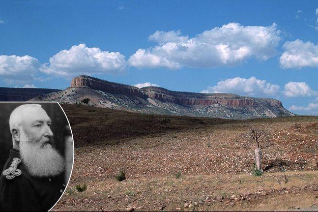 King Leopold Range à Kimberley. En vignette: le roi des Belges Léopold II