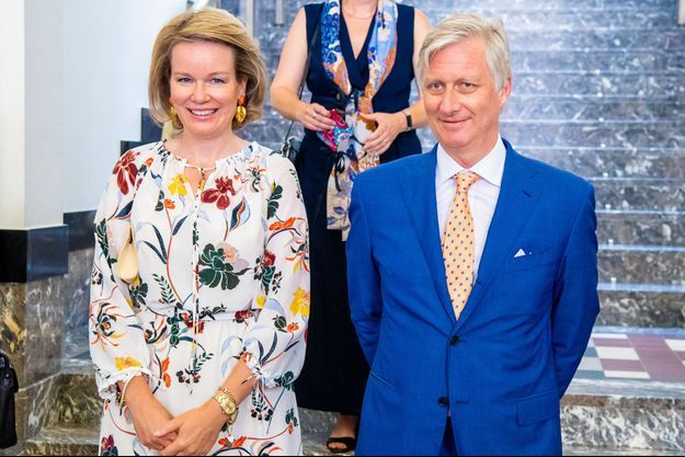 La reine Mathilde et le roi des Belges Philippe, le 23 juin 2020