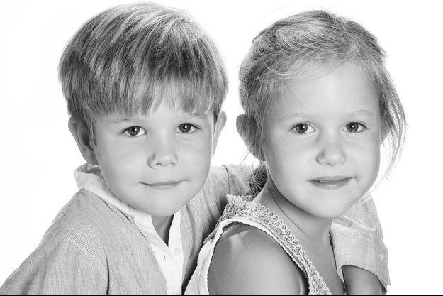Portrait officiel du prince Vincent et de la princesse Josephine de Danemark pour leurs 6 ans, le 8 janvier 2017
