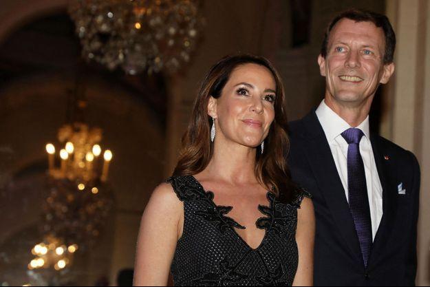 Le prince Joachim de Danemark avec sa femme la princesse Marie à Paris, le 8 octobre 2019