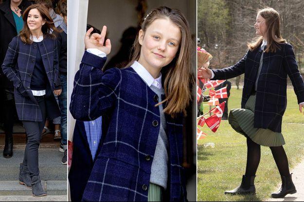 Les princesses Mary et Isabella de Danemark dans le même manteau en 2014 et 2019