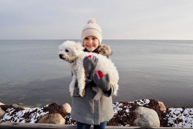 La princesse Athena de Danemark. Photo diffusée pour ses 7 ans le 24 janvier 2019