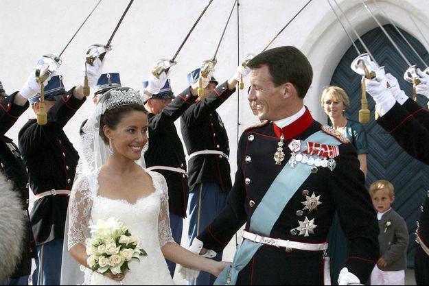Marie Cavallier et le prince Joachim de Danemark, le 24 mai 2008, jour de leur mariage