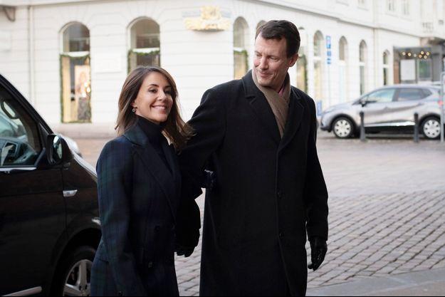 La princesse Marie et le prince Joachim de Danemark à Aarhus, le 25 décembre 2018