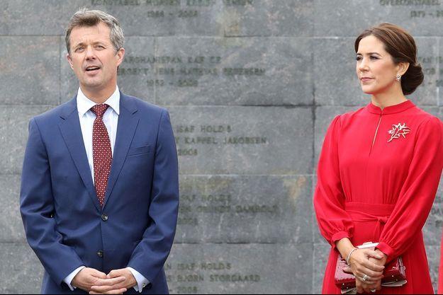 Le prince Frederik et la princesse Mary de Danemark à Copenhague, le 28 août 2018