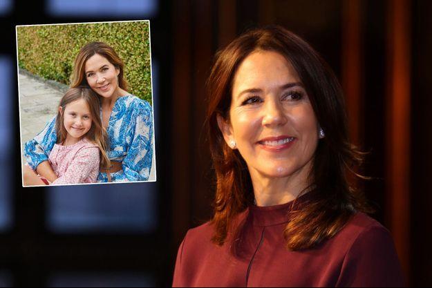 La princesse Mary de Danemark, le 26 octobre 2020 – En vignette avec sa plus jeune fille la princesse Josephine