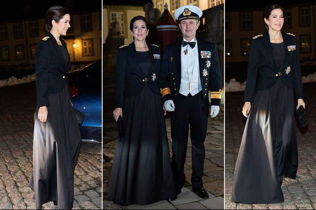 La princesse Mary et le prince Frederik de Danemark à Fredensborg, le 29 janvier 2019