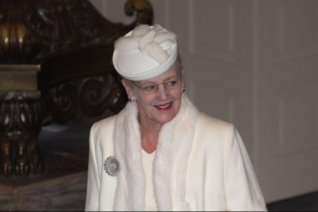 La reine Margrethe II de Danemark à Copenhague, le 12 janvier 2020