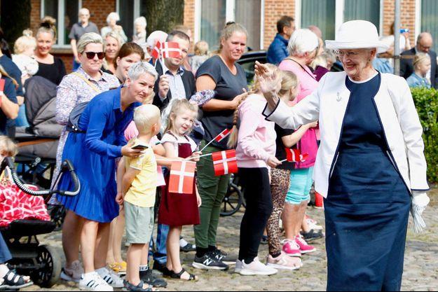La reine Margrethe II de Danemark à Vejen, le 6 août 2021