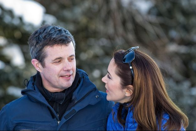 Le prince Frederik et la princesse Mary à Verbier en Suisse, le 8 février 2015