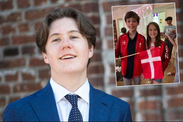 Le prince Christian de Danemark, le 13 juin 2021 – En vignette, ses cousins le prince Henrik et la princesse Athena, le 3 juillet 2021